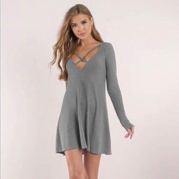 Tobi Dresses & Skirts - Tobi Swing Dress (Grey)